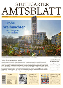 Titelseite Amtsblatt Stuttgart