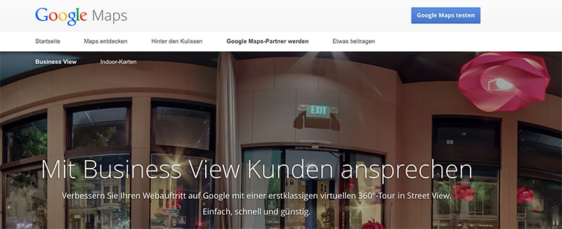 Neuer Name: Google Business View