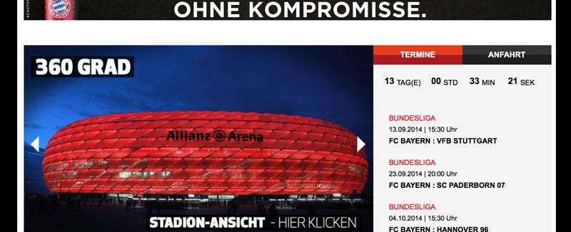 360° Stadion Tour auf Bundesliga.de